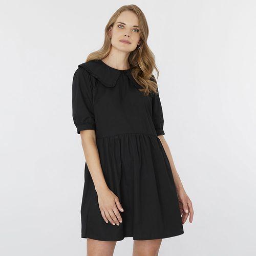Vestido Cuello Bobo Negro - Mujer